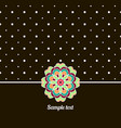Cover oriental-style card cute picture dots black