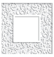 Decorative paper frame vector image vector image