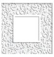 Decorative paper frame vector image