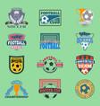 european football soccer lable embleme vector image