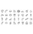 fastfood sign thin line icon set vector image vector image