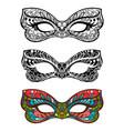 festive masks set vector image vector image