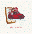 festive year concept holiday vector image vector image