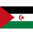 Flag of Sahrawi Arab Democratic Republic vector image vector image