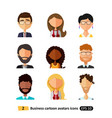 flat icons avatars users office business people