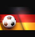 football ball and germany flag vector image vector image