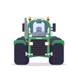 front view of farm tractor vector image vector image