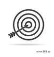 goal achievement outline icon black color vector image vector image