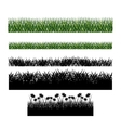 Grass plant silhouette design vector image vector image