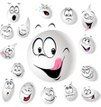 grinning and smiling drop of milk vector image vector image