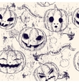 Halloween seamless background with pumpkin vector image vector image