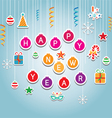 Happy New Year Hanging Mobile Decoration vector image vector image