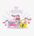 happy valentine day celebration event vector image vector image