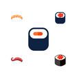 icon flat sashimi set of maki seafood sashimi vector image vector image