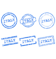Italy stamps vector image