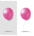 lilac balloons on a isolated background vector image