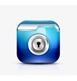 Locked folder icon folder protection concept vector image vector image