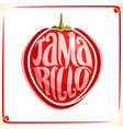 logo for tamarillo fruit vector image vector image