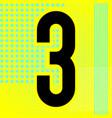 modern font trendy alphabet black number on a vector image