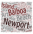 Newport Beach Sights You Should Not Miss text vector image vector image
