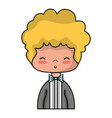 nice boy with elegant suit and hairstyle design vector image vector image