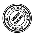 order online rubber stamp vector image