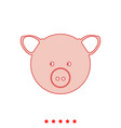 Pig head it is icon vector image