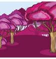 Pink Wood against a cloud vector image vector image