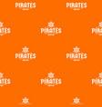 pirate ship pattern orange vector image vector image
