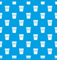 plastic office waste bin pattern seamless blue vector image vector image