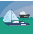 sail boat icon vector image vector image