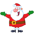 Santa Claus With Open Arms vector image vector image