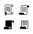 scrolls papers simple related icons vector image