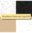 Seamless geometric pattern texture with circles vector image vector image