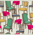 seamless pattern with armchairs vector image vector image