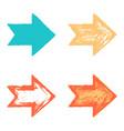 set color arrow sign texture paint vector image vector image