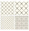 set of black and white mosaic textures vector image vector image