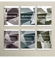 Set of brochures for design in abstract style vector image vector image