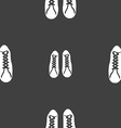 shoes icon sign Seamless pattern on a gray vector image
