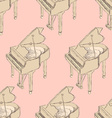 Sketch piano musical insrument vector image