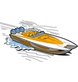 Speedboat On Water vector image vector image