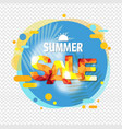 summer sale banner speech bubble isolated vector image vector image