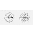 Sunburst on Starburst Element Set for Logo vector image vector image