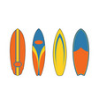 surfboard shape vector image vector image