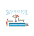 swimming pool summer vector image