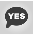 The YES speech bubble icon Social network and web vector image vector image