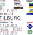 Tilburg text design set vector image vector image