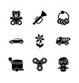 toys for kids glyph icons vector image vector image
