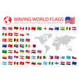 wavy worldwide national flags set vector image