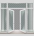 white open doors vector image vector image